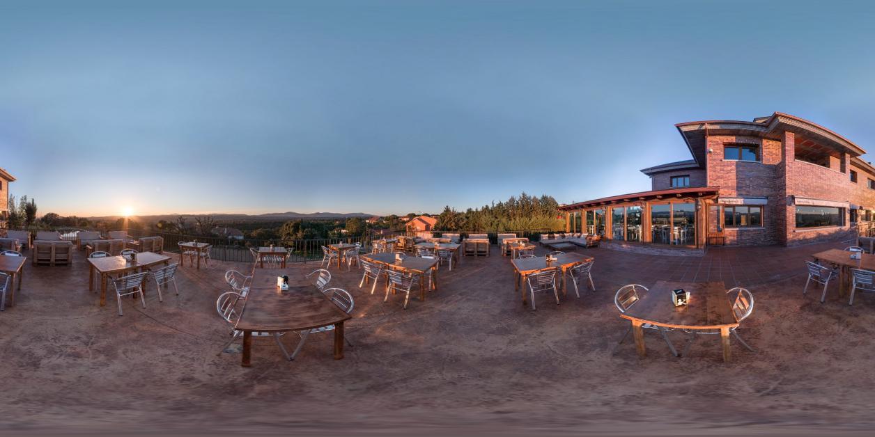 La casa de t came roque terraza atardecer woow 360 for Terrazas nocturnas madrid